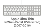 Apple Ultra-Thin Keyboard w/USB & NumPad (wired) (2007-2015)