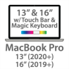 MacBook Pro w/Magic Keyboard – 13″ (2020+) & 16″ (2019+)