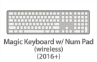 Magic Keyboard w/Numeric Keypad (wireless) (2016+)